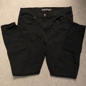 EXPRESS Mid Rise Black Jeans